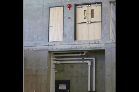 The doors and building services are already installed for the building's reincarnation after the Games